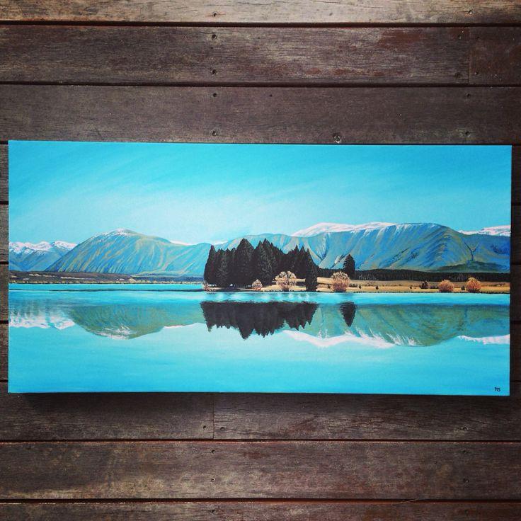 Lake ruataniwha, Twizel, New Zealand. Acrylic on canvas. www.hannahstarnesart.co.nz
