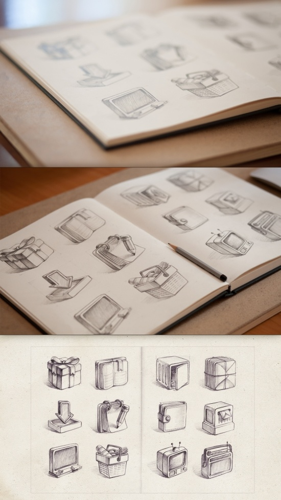 DesignersMX: Icon Set Sketch by BlakeAllen