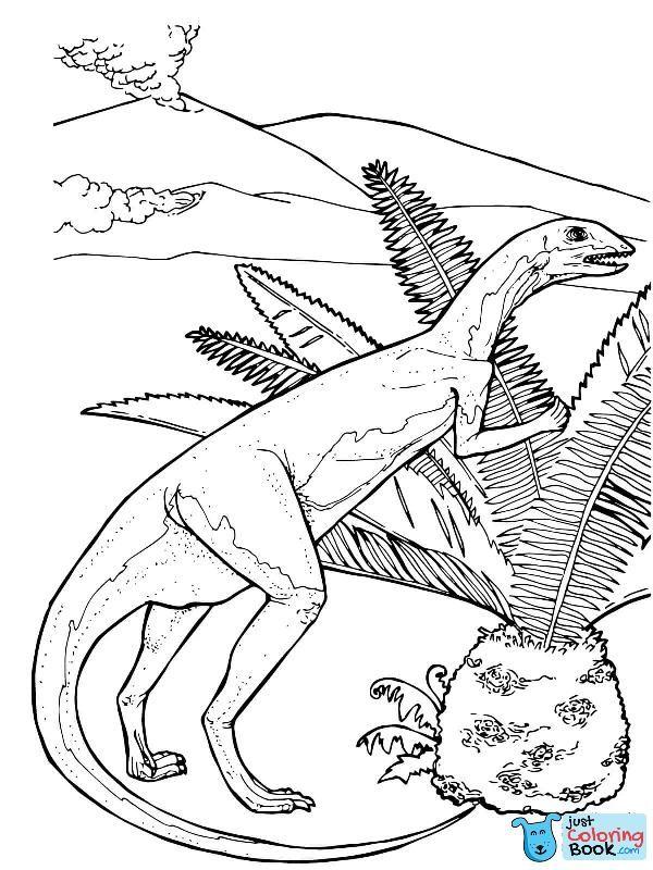 Fabrosaurus Herbivorous Jurassic Dinosaur Coloring Page Free