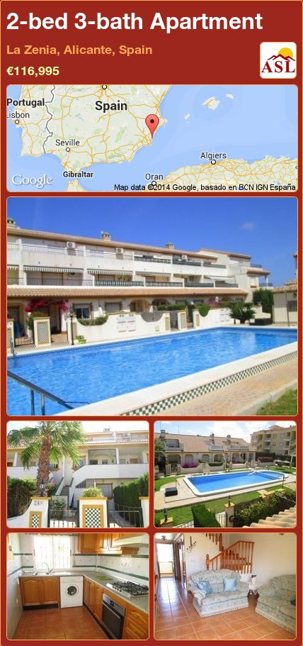 2-bed 3-bath Apartment in La Zenia, Alicante, Spain ►€116,995 #PropertyForSaleInSpain