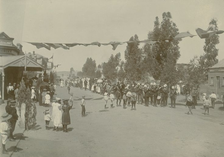 Procession to Mark the Opening of the Town Hall at Peterborough South Australia on 22 November 1894