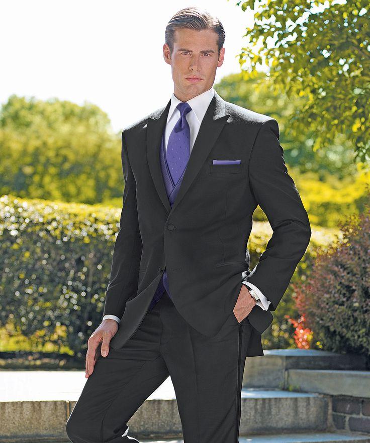 "Saville"" black peak lapel tuxedo | Groom | Pinterest"