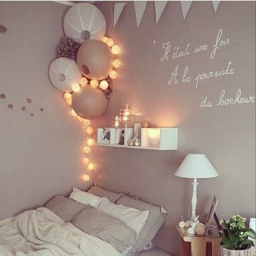 christmas lights bedroom bedroom wall decorations bedroom ideas bedroom inspo house decorations beautiful bedrooms amazing bedrooms dream bedroom - Wall Decoration Bedroom