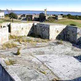 The ruins of Fort Caswell located in Brunswick County NC, Oak Island, NC.