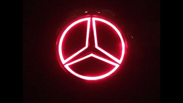 DIY Mercedes illuminated trailer hitch cover
