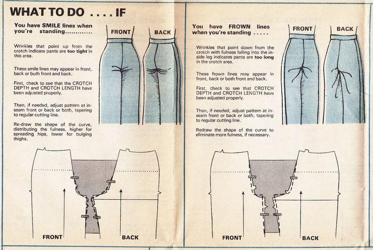 Lo que hay que hacer lo que tienes la sonrisa o las arrugas en los pantalones cuando está de pie