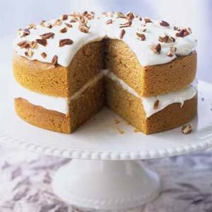 Pumpkin Pie Cake | This Cooking Light cake is to die for...