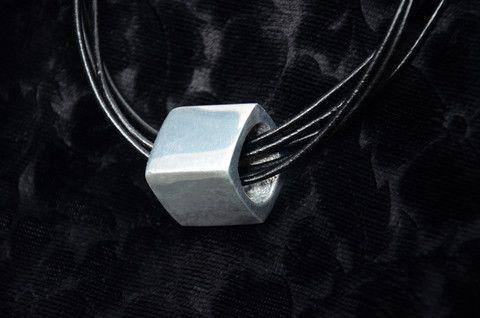 Aluminium & Leather Necklace – zzambi.com