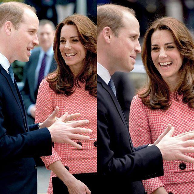 Le duc et la duchesse de Cambridge, à l'école Trinity à Londres le 11 mars 2016 pour une rencontre avec l'association XLP qui aide les adolescents issus de quartiers défavorisés. Robe : Eponine