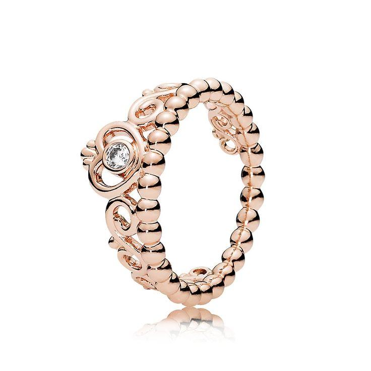 Pandora Rose Gold My Princess Tiara Ring 180880CZ Cheap