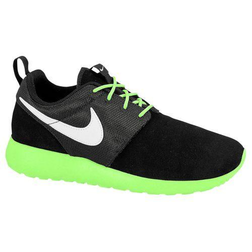 ea4a56118cee ... Nike Roshe Run - Boys  Grade School - Running - Shoes - Black White  nike  roshe run black lime green ...