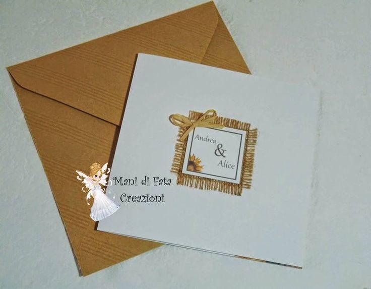 Partecipazione matrimonio girasoli - Wedding sunflowers invite