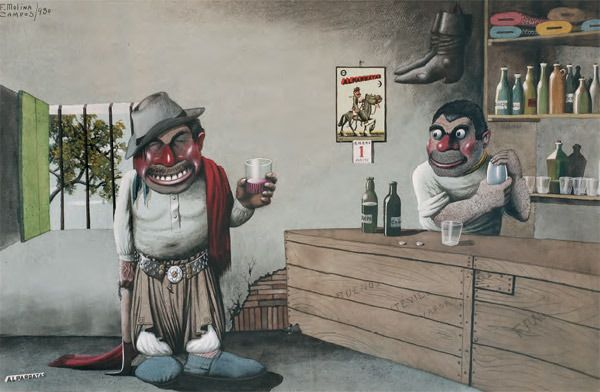 Pintor F.Molina Campos retrato la vida del gaucho