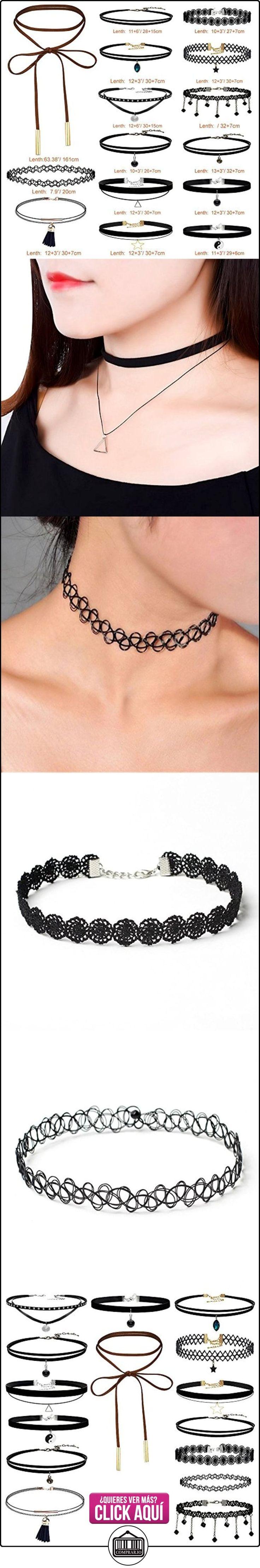 Longra 15 piezas de collar de estrangulación Set Stretch Velvet Classic Gothic Tattoo Lace Choker  ✿ Joyas para mujer - Las mejores ofertas ✿ ▬► Ver oferta: https://comprar.io/goto/B01NCNY5YF