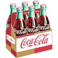 Coca-Cola Bottles Six Pack Carton Wall Decal