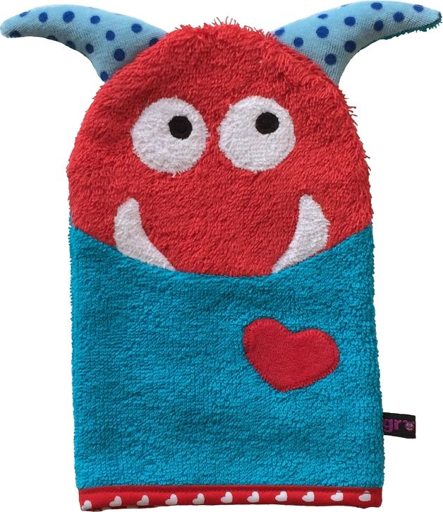 via en.dawanda.com Washcloths – Love Monster Washcloth – a unique product by Grommt on DaWanda