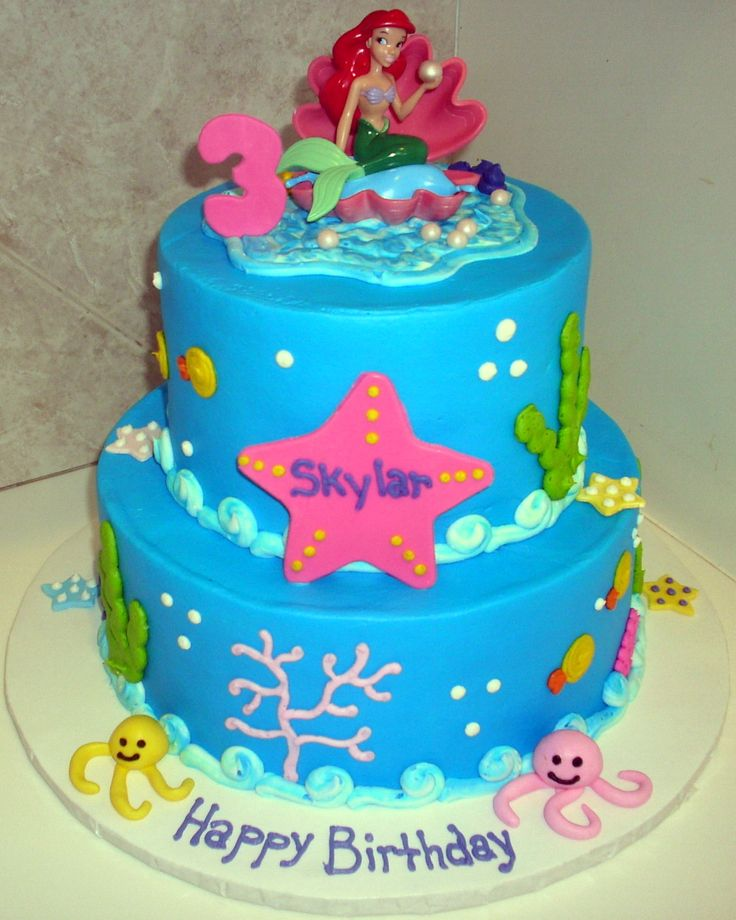 11 best Morgans 3rd birthday images on Pinterest Ariel cake