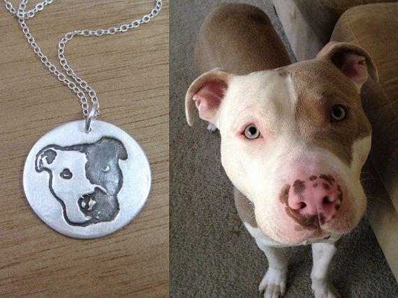 Custom Dog Necklace Eco Friendly Recycled Silver Personalized Pet Keepsake Jewelry Dog Jewelry Photo Memorial Jewelry Dog Lover  - Dog