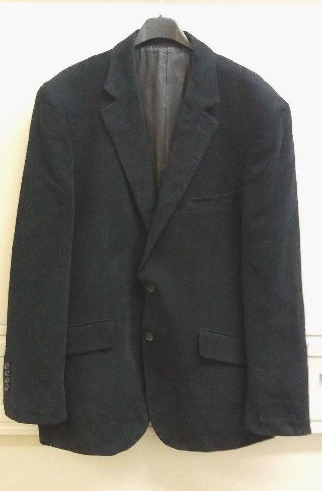 John Lewis Men's Black Cotton Blazer Jacket Size Large #johnlewis #blazers #mensblazers