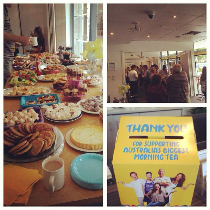Australia's biggest morning tea at our office earlier this year!