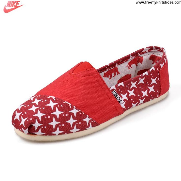 2013 Canvas Nautical Red Womens Artist Toms Shoes Shoes Shop