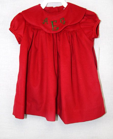 291506  Baby Girl Christmas Dress  Toddler Christmas by ZuliKids, $37.50