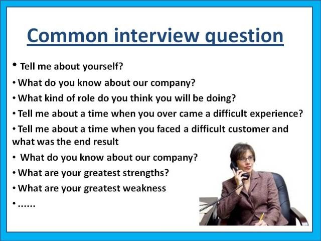 Questions Ever Asked In Interviews Good To Show The Teens!  Common Interview Questions