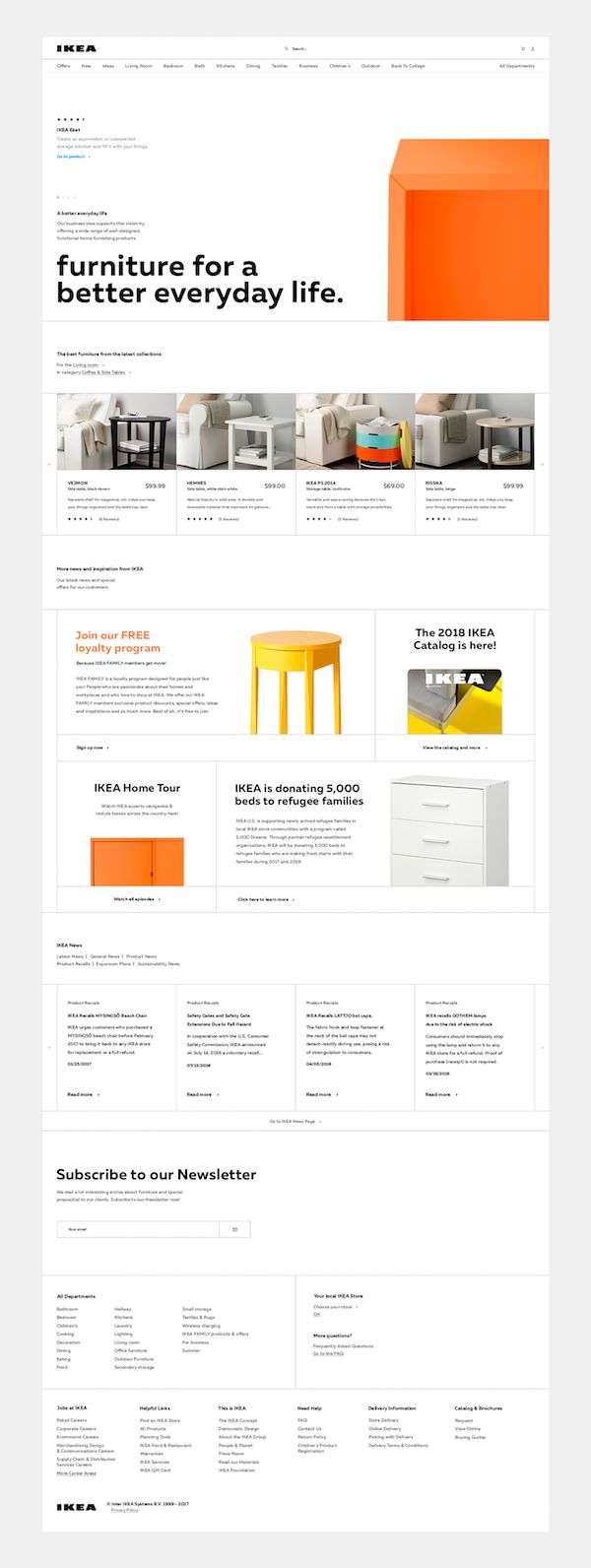 Super Clean IKEA Website Redesign Concept Puts Focus On The Products