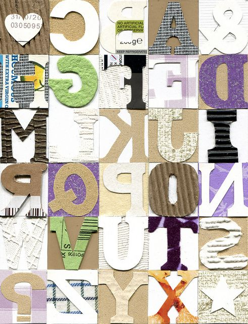 Alphabet collagraph plate | Flickr - Photo Sharing!