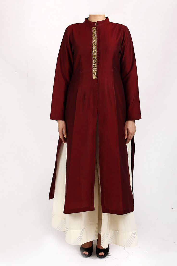 cotton silk kurta with front buttons and slit. - Z1816Pk-15-78 Designer dresses by Kadijeh at http://zohraa.com/blacktaxi/ #zohraa #blacktaxi #designer #outfit #onlineshop #womensfashion #womenswear #look #diva #party #shopping #collection #online #beautiful #love #beauty #glam #shoppingonline #styles #stylish #model #fashionista #fresh #pretty #women #luxury #quality #lifestyle #bohodresses #dress #boho #handmade #classy #kurta #women