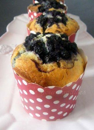 Muffins aux myrtilles, citron et huile d olive