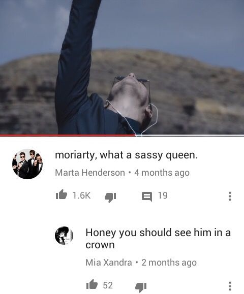 Moriarty is such a sassy queen