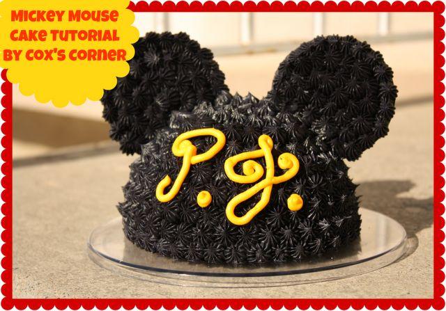 Cox's Corner: Mickey Mouse Cake TutorialMickey Mouse Cake, Mickey Cake, Disney Crafts, 1St Birthday, Parties Ideas, Smash Cake, Cake Tutorials, Birthday Cake, Birthday Ideas