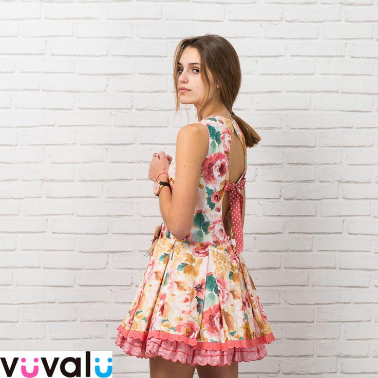 #Vestido niña estampado y muy elegante, de la firma española #Loanbor