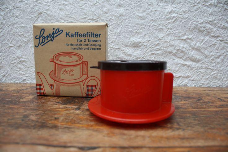 Sonja vintage camping koffiefilter voor twee, café pour deux, coffee for two, DDR, 1960. door BelaCastroAndCo op Etsy