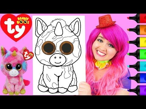 Coloring Ty Beanie Boos Fantasia Unicorn Coloring Page Prismacolor ...