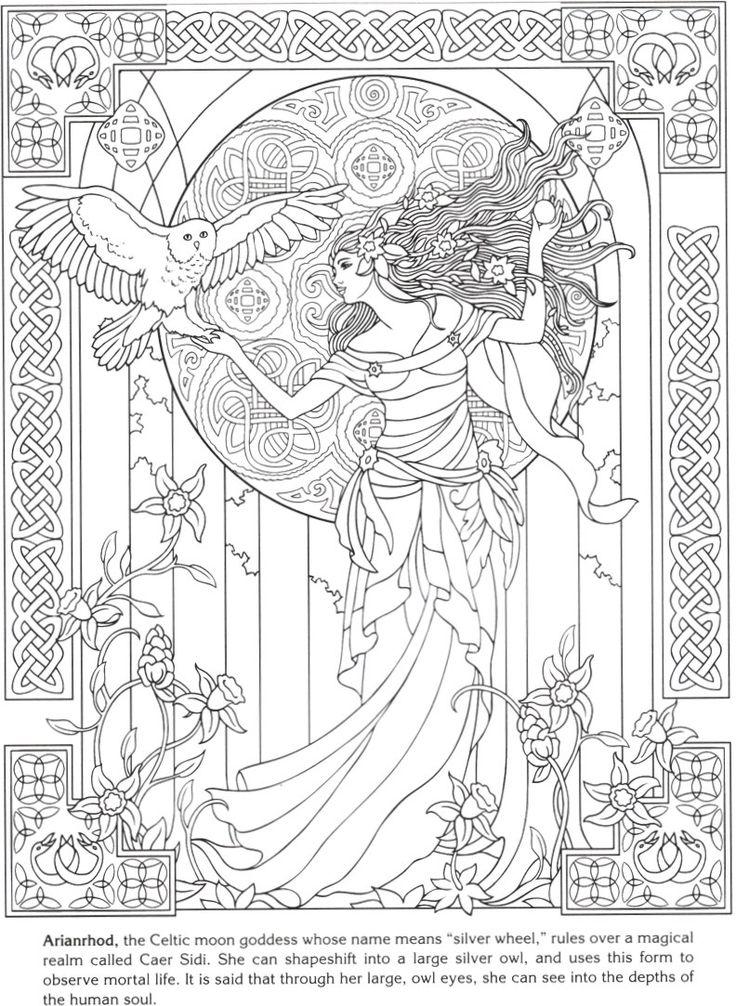 51 besten Goddesses Coloring Book Bilder auf Pinterest | Malbücher ...
