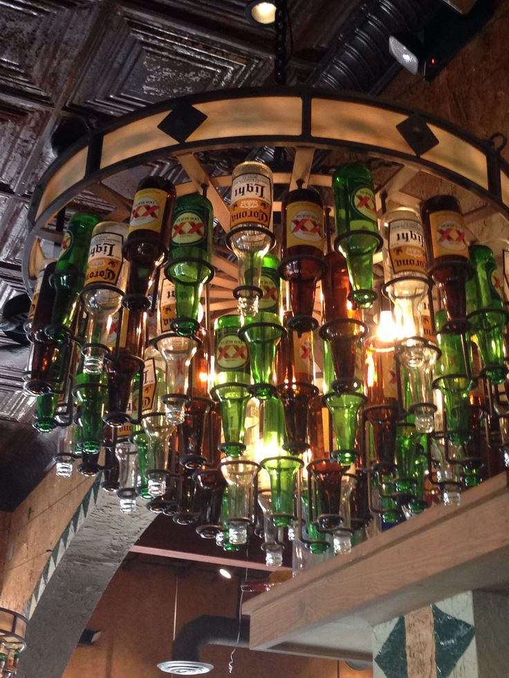 Best 10 Beer Bottle Chandelier Ideas On Pinterest Beer