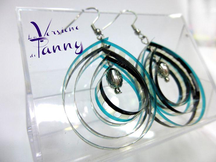 Earrings movie film - Orecchini realizzati con pellicola cinematografica