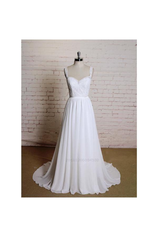 Discount Fine Lace Wedding Dress Open Back Wedding Dress A Line Wedding Dress Wedding Dress Chi Wedding Dresses Simple Prom Dress Unique Flower Girl Dresses