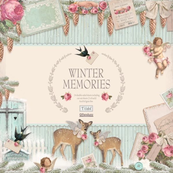 """Craftie-Charlie: Tilda Papercraft Winter Memories 12""""x12"""" Double Sided Paper Stack"""