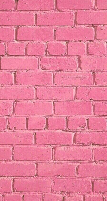 Imagem de wallpaper, pink, and brick
