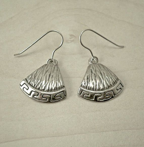 Silver drop earringssilver dangle earringscontemporary