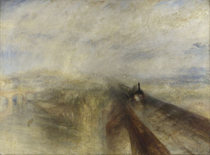 J.M.W. Turner 'Rain, Steam and Speed' 1844 I would love to see an analytical drawing done of this painting