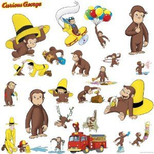 17 best images about party curious george on pinterest for Curious george wall mural
