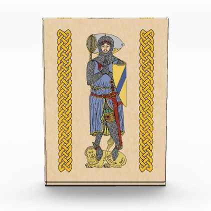 English Knight Circa 1300 Photo Block - home gifts ideas decor special unique custom individual customized individualized
