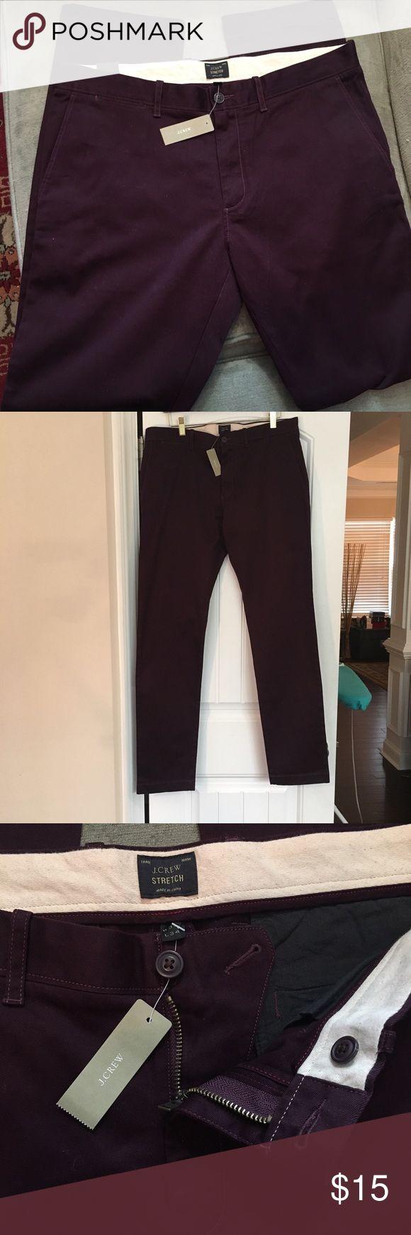 NWT J. Crew women's pants dark purple sz 34 x 34 NWT J. Crew women's pants dark purple sz 34 x 34. Stretch fit, nice stitching. J. Crew Pants Trousers