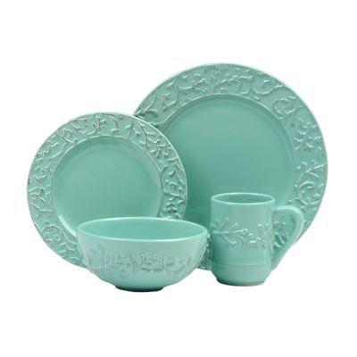 Waverly Savoy Teal 16-pc. Dinnerware Set   Kirklands