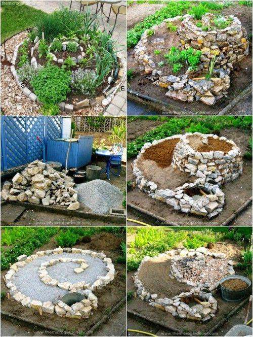 Herb Spiral Garden DIY