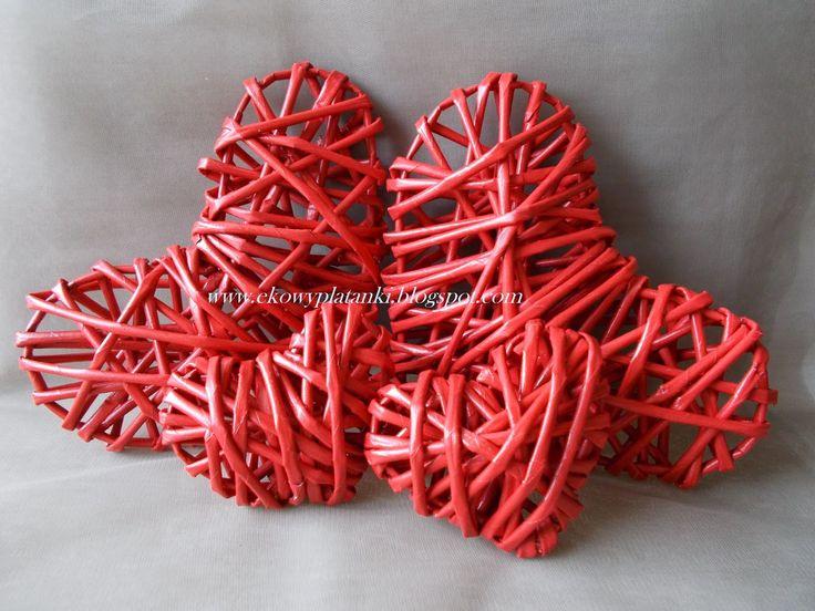 Wicker paper heart Serce z papierowej wikliny